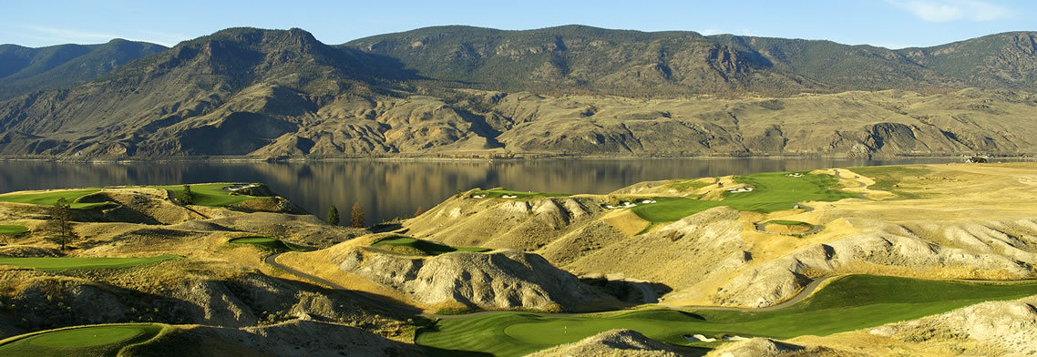 Holes 6 & 7 at Tobiano Golf Course, Kamloops, BC