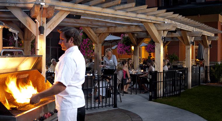 Watermark Beach Resort Hotel - Wine Bar. Kelowna, BC.