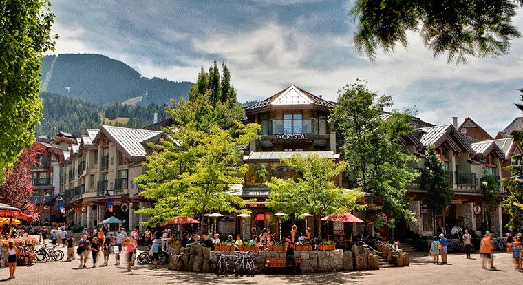 Crystal Lodge - Patio. Whistler BC.