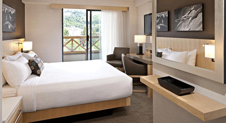Delta Whistler Village Suites - Bedroom. Whistler, BC