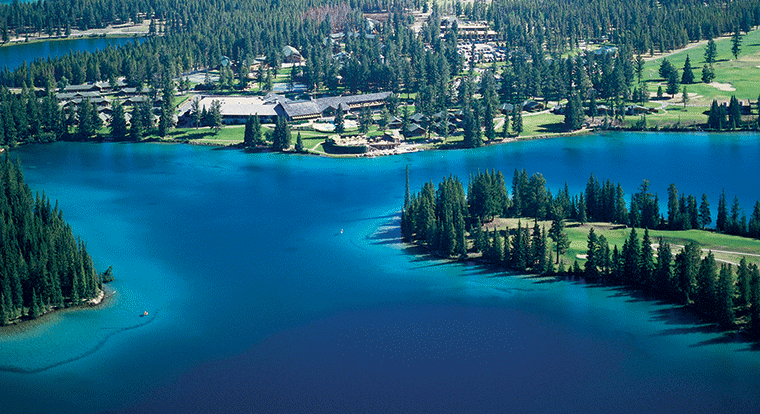 Jasper Park Lodge - Aerial View