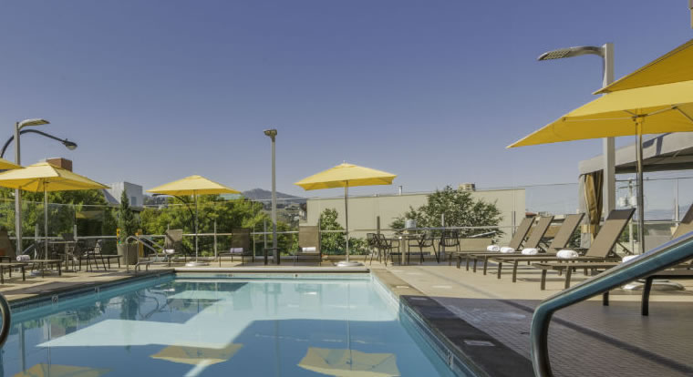 Pool and Patio at Hotel 540, Kamloops, BC