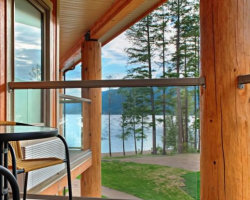 Quaaout Lodge & Spa - Beautiful view from private deck. Chase, BC
