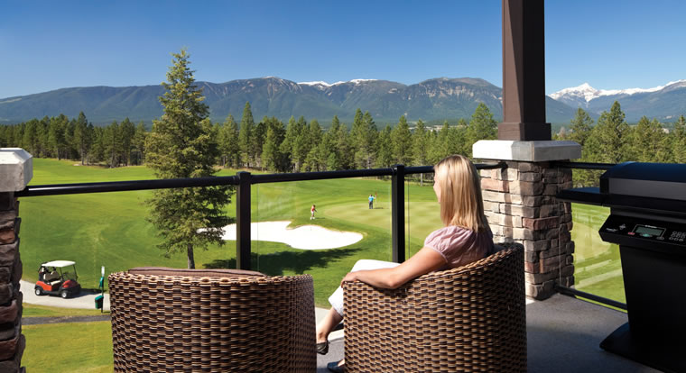 Copper Point Resort - View from condo. Invermere, BC