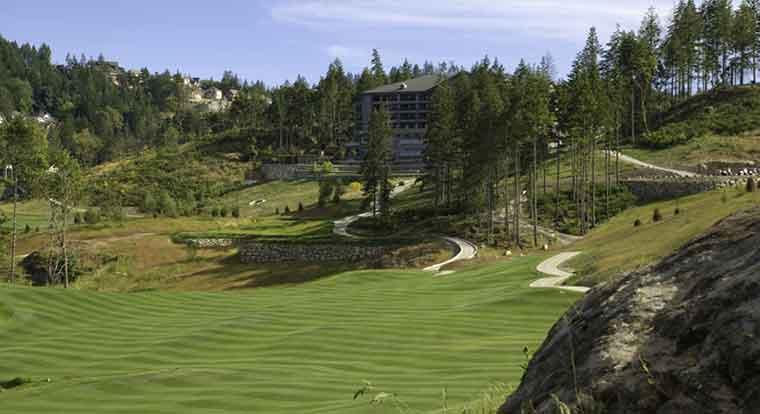 Bear Mountain Golf Resort - Valley Course - Hole #1. Victoria, BC