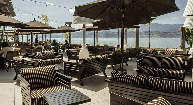 Manteo resort - Waterfront Hotel & Villas - Restaurant. Kelowna, BC