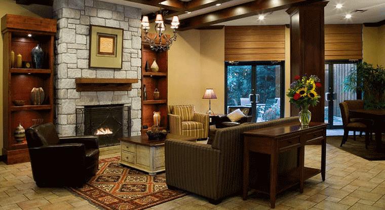 Delta Whistler Village Suites - Lobby. Whistler, BC
