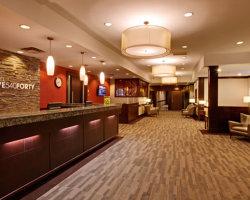 Hotel 540 lobby. Kamloops, BC