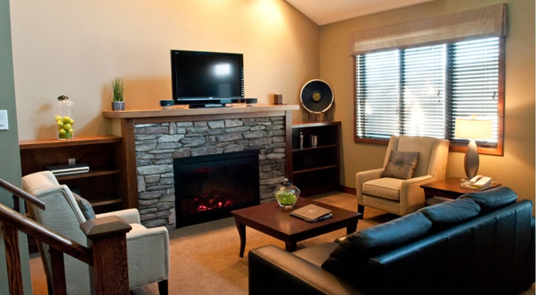 Bighorn Meadows Resort - Living Room. Radium Hot Springs, BC