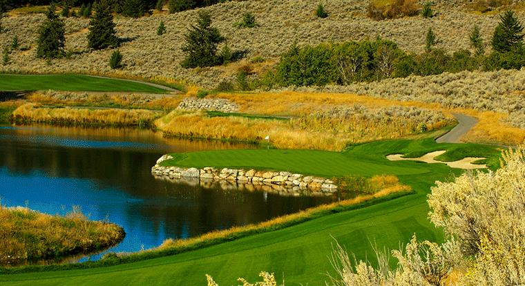 The Rise Golf Club - Hole #15. Vernon, BC