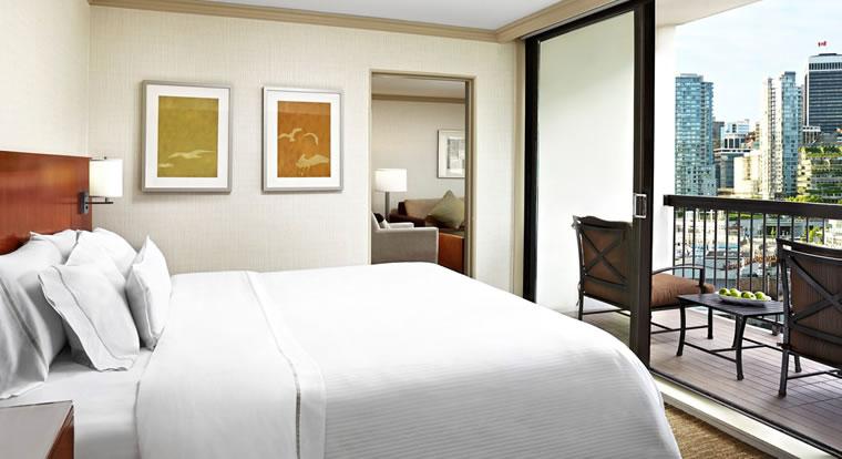Westin Bayshore - Bedroom. Vancouver, BC