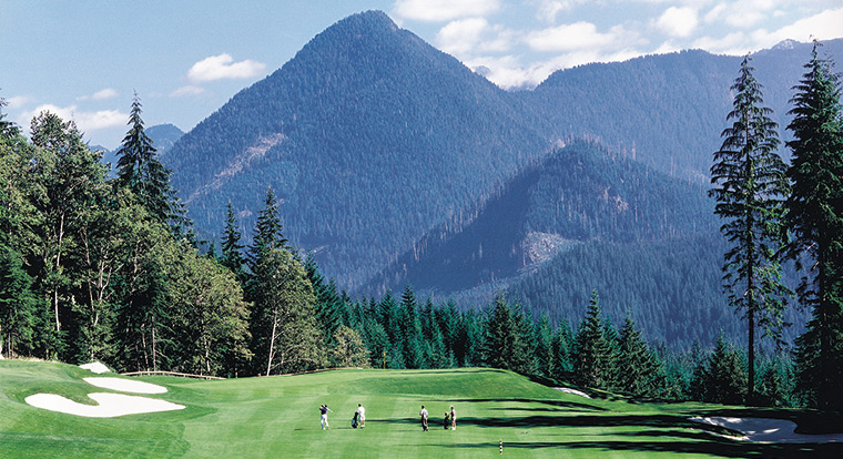 Westwood plateau golf country club bc golf safaris for Landscaping rocks victoria bc
