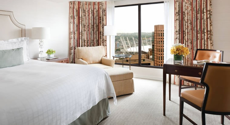 Four Seasons Vancouver - Bedroom. Vancouver, BC