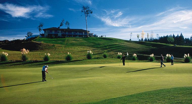 Arbutus Ridge Golf Club - Hole #18. Mill Bay, BC