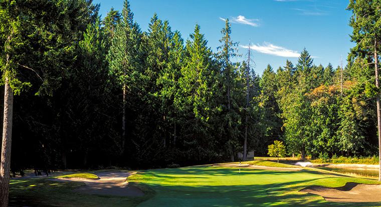 Arbutus Ridge Golf Club - Hole #4. Mill Bay, BC