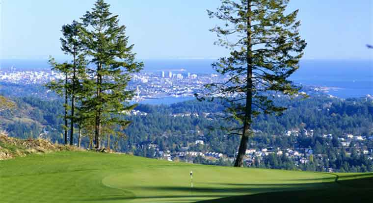Bear Mountain Golf Resort - Mountain Course - Hole #13. Victoria, BC