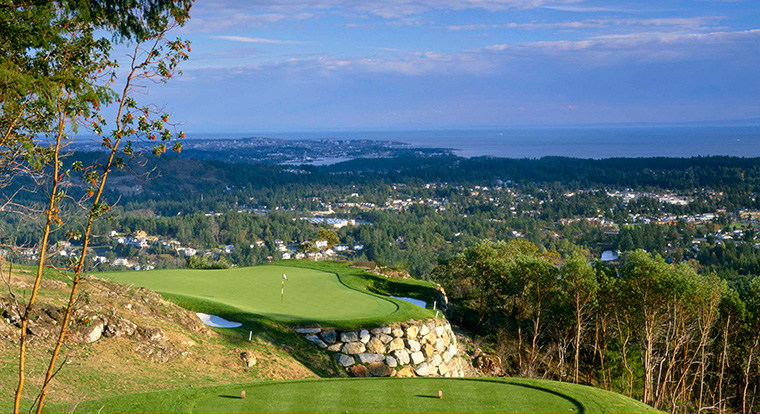 Bear Mountain Golf Resort - Mountain Course - Hole #14. Victoria, BC