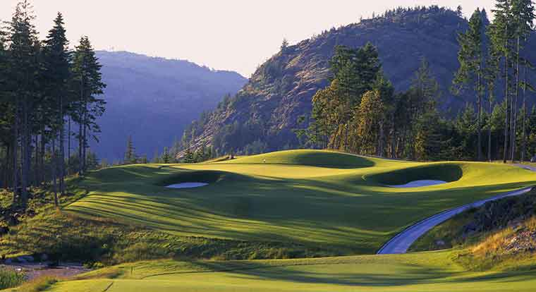 Bear Mountain Golf Resort - Mountain Course - Hole #15. Victoria, BC