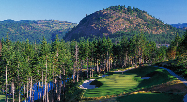 Bear Mountain Golf Resort - Mountain Course - Hole #16. Victoria, BC