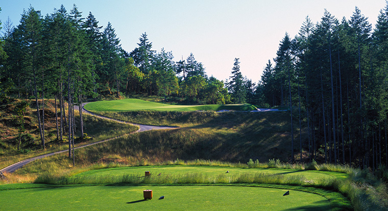 Bear Mountain Golf Resort - Mountain Course - Hole #7. Victoria, BC
