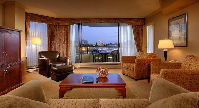 Victoria Regent Waterfron Hotel & Suites - Living Room. Vicotria, BC