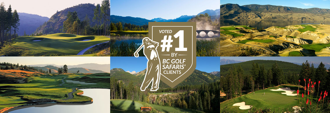 Voted best golf courses in BC
